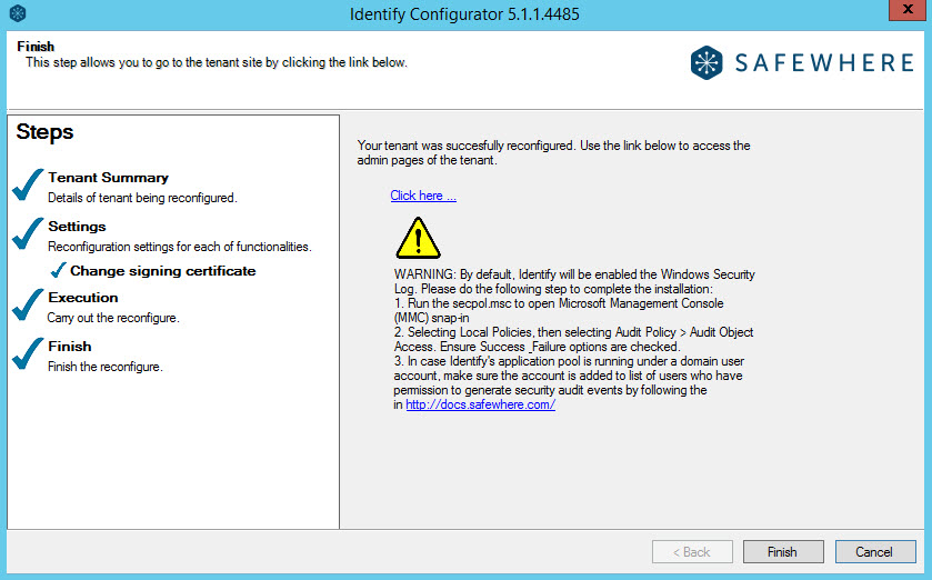 How to change an expired token signing cert for Safewhere Identify |