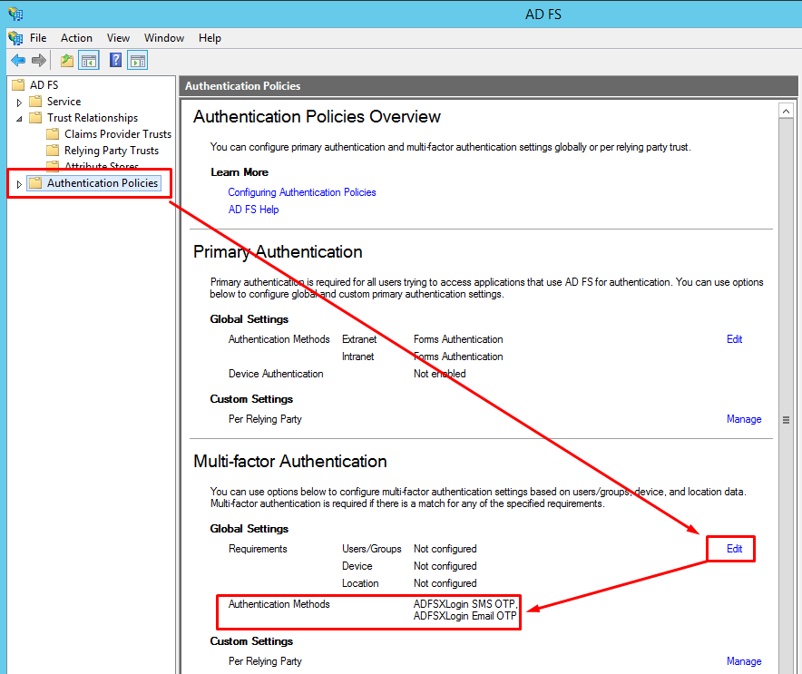 How to configure the Multi-factor Authentication (MFA) for